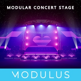 UPDATE v1.2 Support DMX plugin in 4.26! With this package you can easily assemble different sizes of concert stage for your virtual concerts.