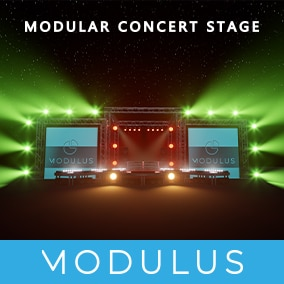 With this package you can easily assemble different sizes of concert stage for your virtual concerts.