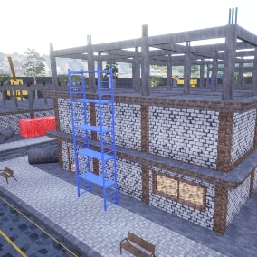 Asset package for the construction of modular buildings : 49 Static Meshes
