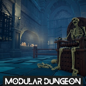 A Complete Modular Medieval Dungeon Environment To Unleash Your Imagination!