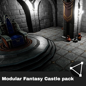 Modular Top-Down Fantasy Castle pack.