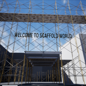 A modular frame style scaffold for use in your UE4 creation!