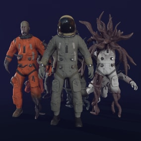 Modular characters with 4k textures