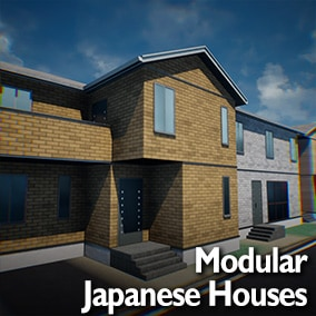 Realistic modular Japanese building blocks to create Modern Residential Houses