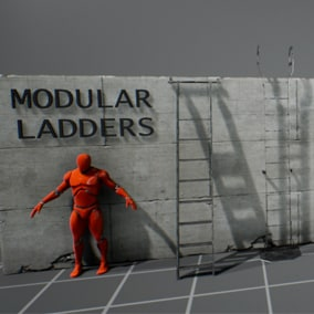 10 different wall ladders models, ready to be used, with 4 different designs every one