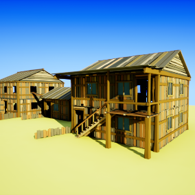 This pack contains modular elements to create various houses.