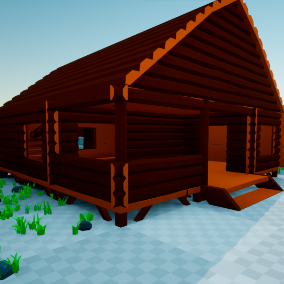 A modular and low poly cabin to use in your games.