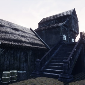 Realistic and Modular Medieval Village