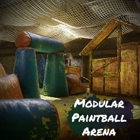 Modular Paintball Arena ready for game production!
