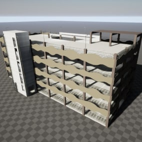 Construction pack for building parking garages. Realistic design and based on real world architecture.