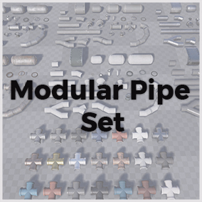 High quality modular pipe set. 27 meshes & 6 different materials. Socket snapping for fast and easy setup.