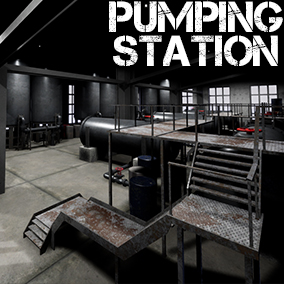 A set of modular parts to create a pumping station.