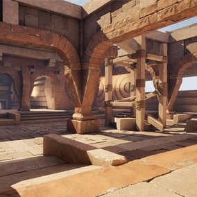 Modular Ruins Series' engineering collection part C. This product include high-quality Modular models of the Ruins Environment.