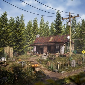 A modular asset pack with props to create rural cabins.