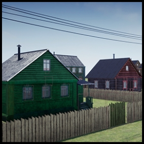 Create your own Russian village scene!