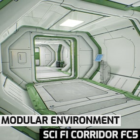 Sci-fi corridor built in the theme of cyberpunk/sci-fi style. Designed with one trim sheet and have good video memory optimization.
