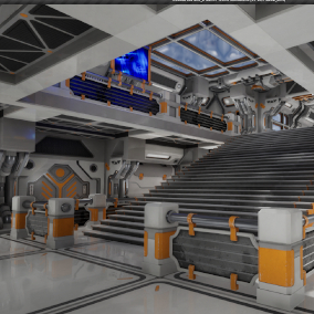 Modular SciFi Series' engineering collection part D. This product provides next gen, highly customizable assets perfect for developing environments for scifi or even semi-futuristic projects set in an engineer-esque location.