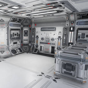 Modular SciFi Series' engineering collection part E. This product provides next gen, highly customizable assets perfect for developing environments for scifi or even semi-futuristic projects set in an engineer-esque location.