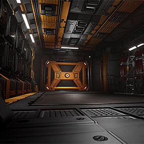 A set of high quality modular assets for creating sci-fi engineer/industrial environments.