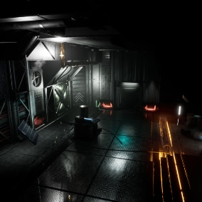 A pack of versatile modular sci-fi assets for level creation and game design.