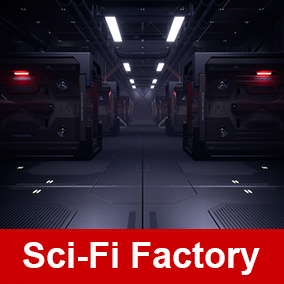 A set of modular assets for making your own sci-fi factory environment