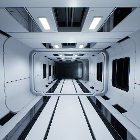 Modular Sci-Fi Interior is designed to create a AAA quality environment. With 68 components you can easily build any spaceship corridors and rooms, laboratories, engineering facilities, and other futuristic premises.