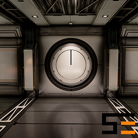 A customizable set of 83 modular pieces used to construct a series of scifi themed interiors