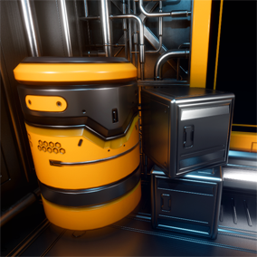 Modular Sci-Fi Environment and Props Set with hi-res material and Mesh Decals