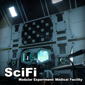 Set of high quality Sci-fi experiment/ medical assets, the modular assets in this pack suitable in many other Scifi scene