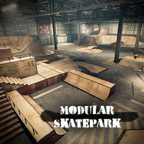 Modular Skatepark ready for game production!