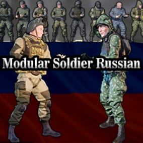 Modular Soldier animated and gameready.