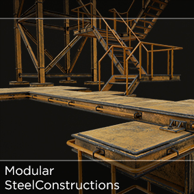 A set of modular objects for building steel structures