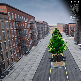 A massive modular street pack that allows developers to quickly and easily create Towns/Cities with an endless array of possible combinations, from clean and new to post apocalyptic.
