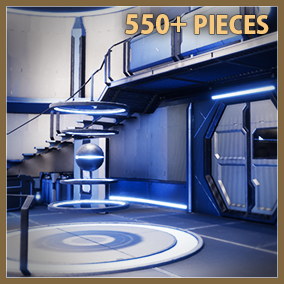 This is a highly scalable and customizable Scifi environment building set with more than 500 pieces. It can be made to fit many styles: sci-fi, futuristic, or even modern hi-tech