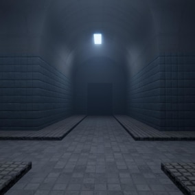 Basic interior pack for modular underground tunnels.
