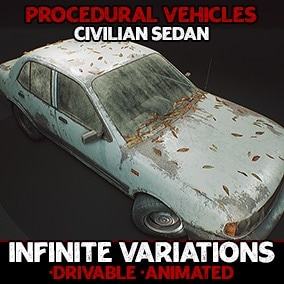 Generate infinite interactable sedan variations with flexible, procedurally generated blueprint actors!