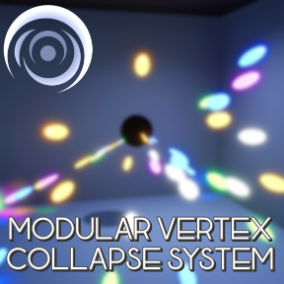 This pack allows you to easily create a black-hole type effect where you can collapse the vertices of a mesh on a specific position.