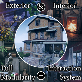 """The """"Victorian House"""" - Ready game level. Full Modularity. About 1920 high quality assets for your game."""