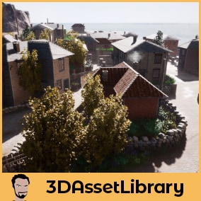 Modular Village Set for Unreal Engine is a set of unique modular assets that snap together to create simple village style buildings for Unreal 4.20+