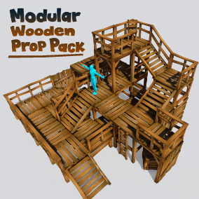 A collection of highly versatile and easy to use wooden structures and props.