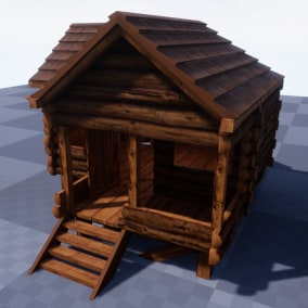 A modular cabin to use in your games and other projects.