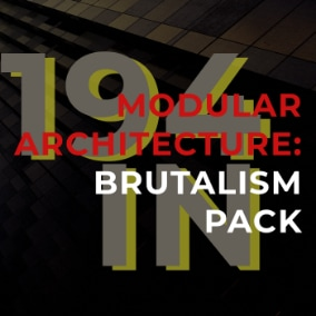 194 Fully modular meshes pack for build up modern architecture