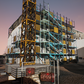 Modular construction site