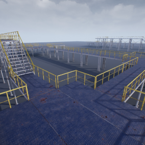 High quality modular pack, for the creation industrial landscape.