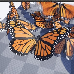 Monarch butterfly 3d model