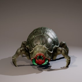 Monster beetle , low poly model