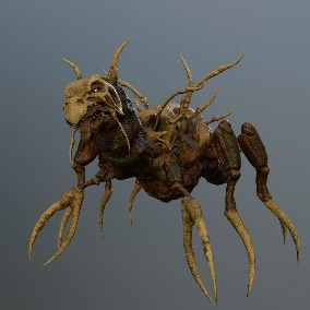 Low-poly model of the character Monster Bone Beetle