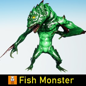 "Game Monster Model ""Fish Monster"""