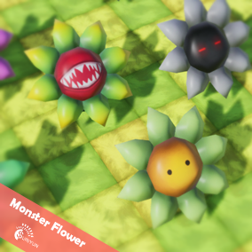 Monster Flower 3D Characters with 4 Animations.