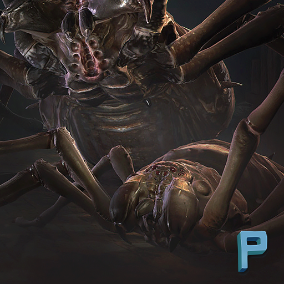Realistic Giant Spiders with 10 animations ready to use in your game!